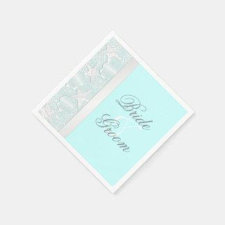 Beach Wedding Seashells and Starfish Napkins Paper Napkins