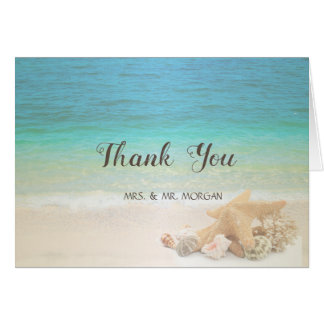Beach  Wedding Seashells Card