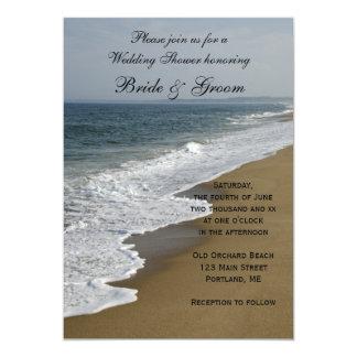 "Beach Wedding Shower 5"" X 7"" Invitation Card"