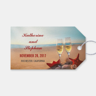 Beach Wedding Sunset Pack Of Gift Tags