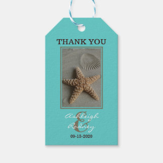 Beach Wedding Thank You Favor Pack Of Gift Tags