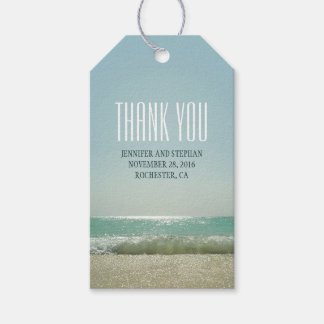 Beach Wedding Thank You Gift Tags