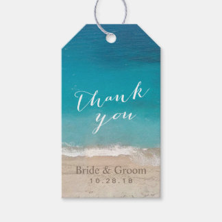 Beach Wedding Thank You Pack Of Gift Tags