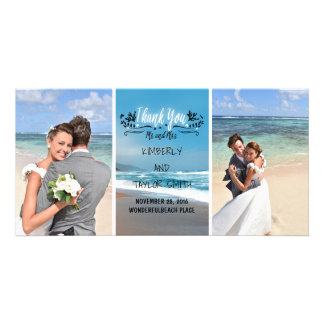 Beach Wedding Thank You Personalized Photo Card