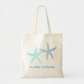 Beach Wedding Welcome Bag Tote (Blue Starfish)