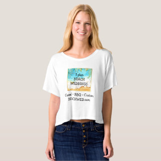 Beach Weddings Planner Business Ad T-shirt