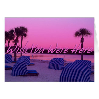 Beach Wish You Were Here Card. Card
