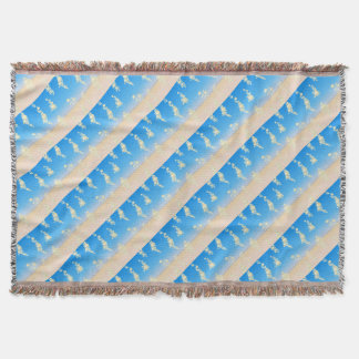 Beach with bubbles throw blanket