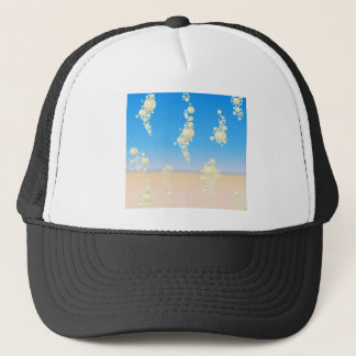 Beach with bubbles trucker hat