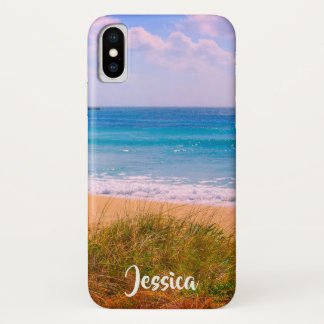 Beach with Dunes Personalized Name iPhone X Case