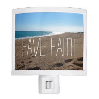 Beach with Faith Quote Nite Light