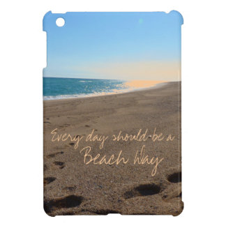 Beach with Quote iPad Mini Cases