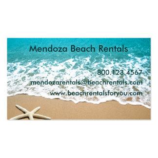 Beach With Starfish on Sand Business Card