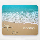 Beach With Starfish on Sand Mouse Pad