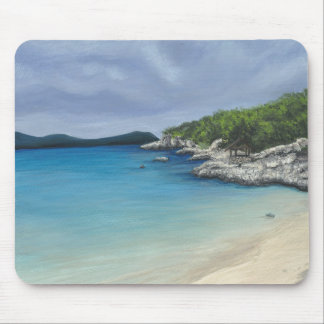 Beach with Storm Clouds Mousepad