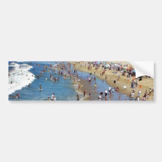 Beach With Surfers Bumper Sticker