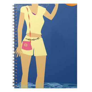 Beach Woman Vintage Notebook