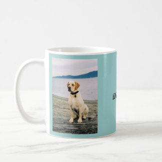 Beach Yellow Lab Coffee Mug