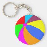 Beachball Basic Round Button Keychain