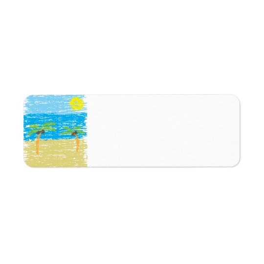 BeachBumLife Return Address Label