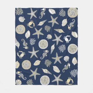 Beachcomber Navy Fleece Blanket