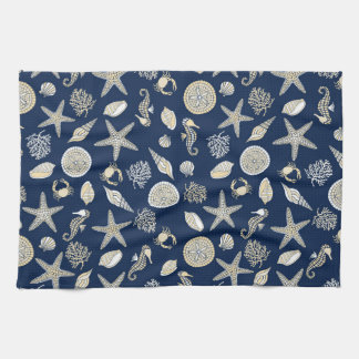 Beachcomber Navy Kitchen Towel