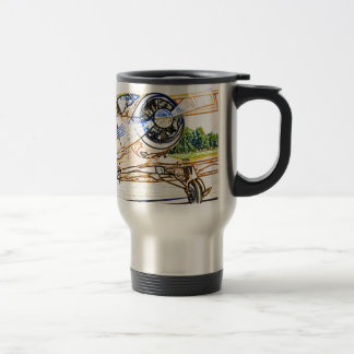 Beachcraft Staggerwing Vintage aircraft Travel Mug