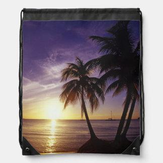 Beaches at Negril, Jamaica 3 Drawstring Backpacks