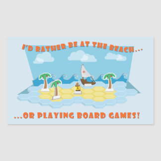 Beaches & Board Games Stickers