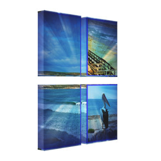 Beaches In A  Photo Collage, Canvas Print