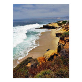 Beaches Ocean Cliffs La Jolla Postcard
