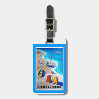 Beaches of France Luggage Tag