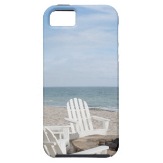 beachfront house with adirondack chairs and iPhone 5 cases