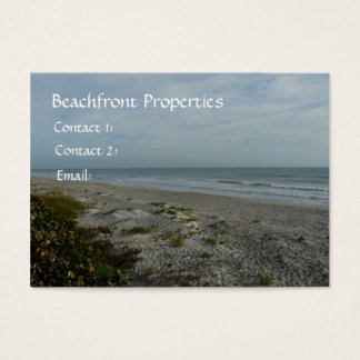 Beachfront Properties/Real Estate Business Card