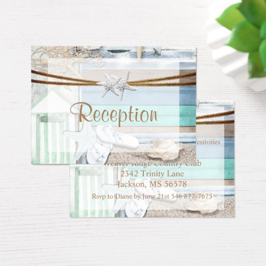 Beachfront Wedding Business Card