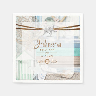 Beachfront Wedding Paper Napkins