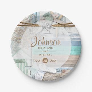 Beachfront Wedding Paper Plate
