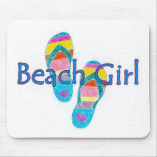 beachgirl mouse pad