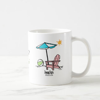 Beachin - Gratitude Classic White Coffee Mug