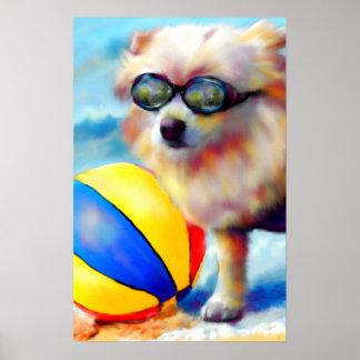 Beachin' (Pomeranian) Fine Art Print