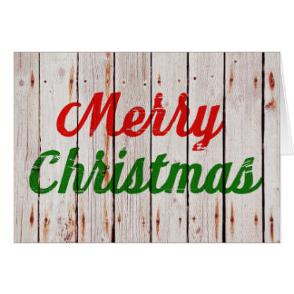 Beachwood Backdrop Merry Christmas | Greeting Card