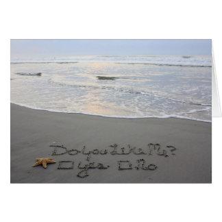 Beachwrite's Flirting Card