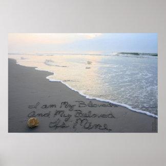 Beachwrite's Song of Solomon 6:3 Horizontal Poster