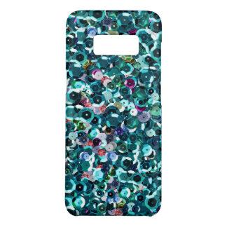 Beachy Aqua Blue Faux Sequins Case-Mate Samsung Galaxy S8 Case