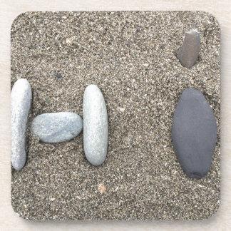 Beachy Art Sand Rock Hi Simple Cute Coaster