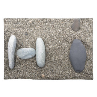 Beachy Art Sand Rock Hi Simple Cute Place Mat