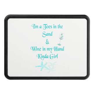 Beachy Babes~ Wine in my hand Hitch Cover
