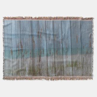 Beachy Boardwalk Throw Blanket