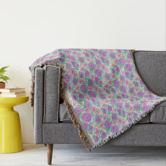 Beachy Boho Print Throw Blanket