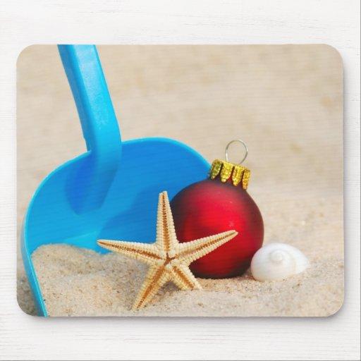 Beachy Christmas Mouse Pad